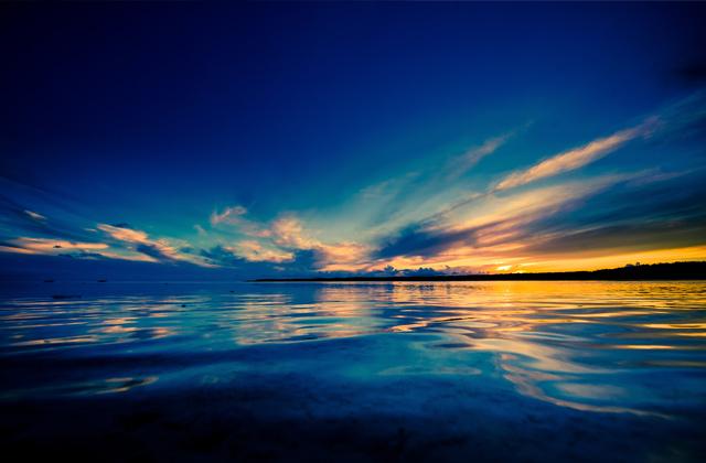 Sunset over Aitutaki