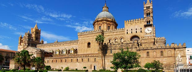 Clock tower in Sicily Italy