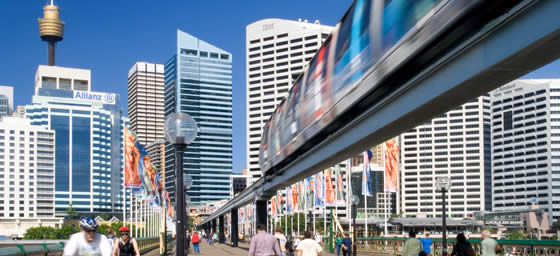 Fly to Sydney and expore with the Monorail