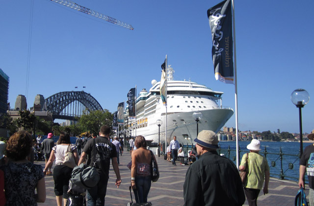Radiance of the Seas in Sydney Harbour | by Flight Centre's Katrina Imbruglia