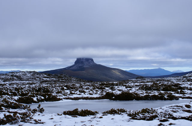 Cradle Mountain under snow