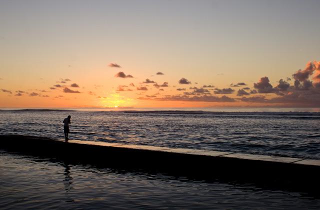 Fishing at Dusk, Ha'atafu Beach
