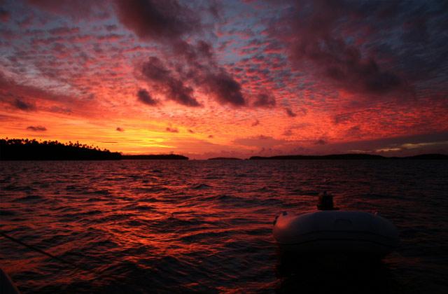 Stunning Sunset, over the islands of Vava'u