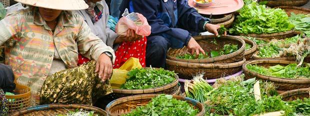 Vietnam local food market