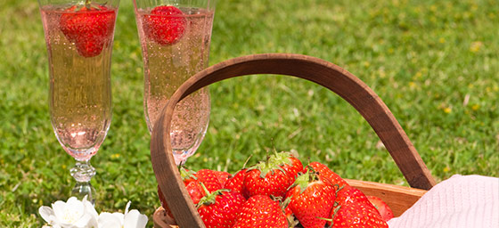 Tennis: Champagne & Strawberries at Wimbledon