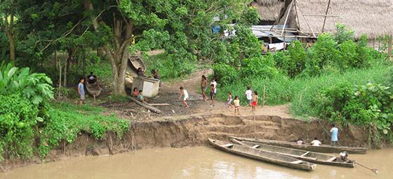 South America: Amazon Village in Peru