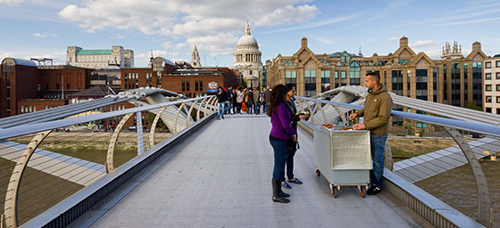 UK: Millennium Bridge and St Paul's