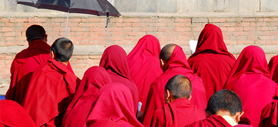 Working & Volunteering: Buddhist monks in Nepal