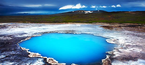 Hot Spring Blahver, Iceland