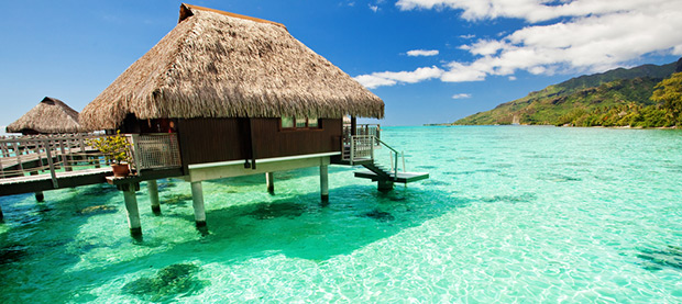 South pacific beach holidays fiji island resorts Overwater bungalows fiji