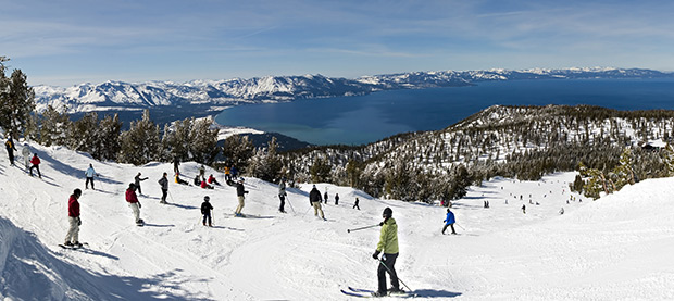 The view over Lake Tahoe, USA