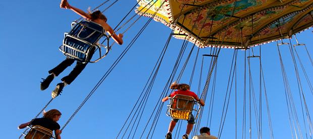 Take a Twirl on the Celebration Swings